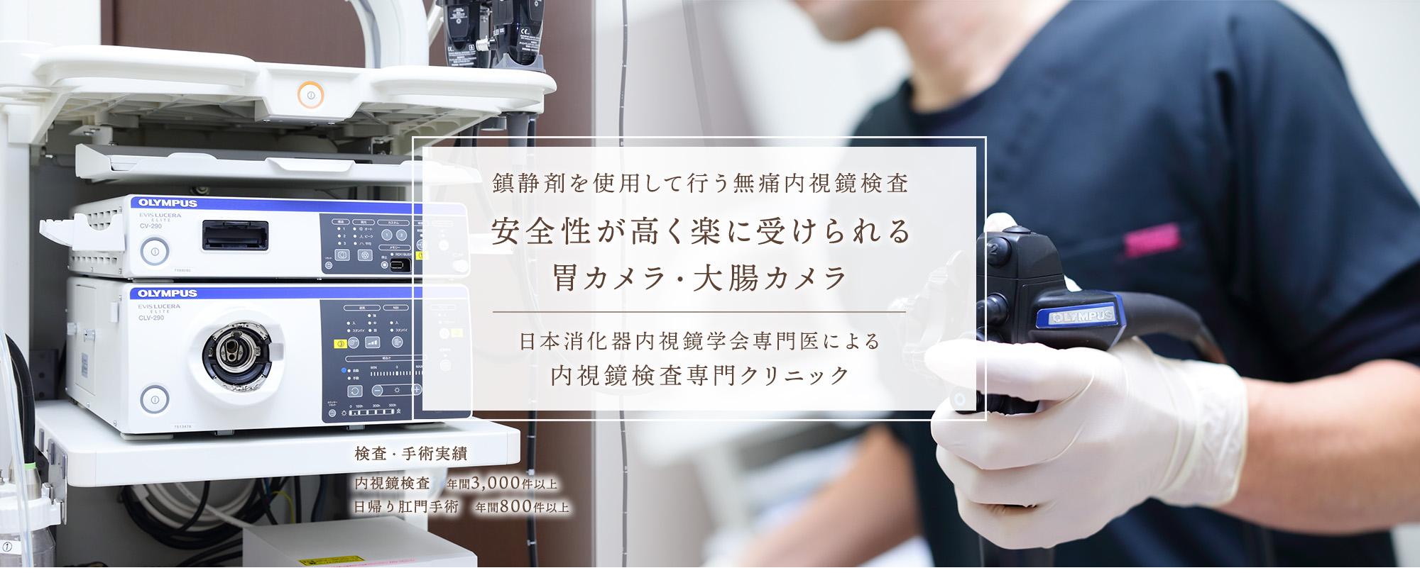 熟練した内視鏡専門医による検査と麻酔を使用し、無痛内視鏡検査を提供